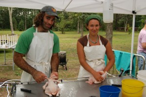 Jefferson Munroe and Emily Palmer, on the chicken crew