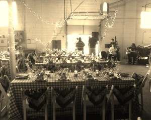 Before the celebratory bison dinner at Slow Meat 2014.