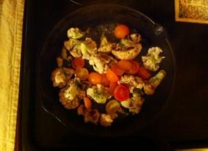 A vegetable pan